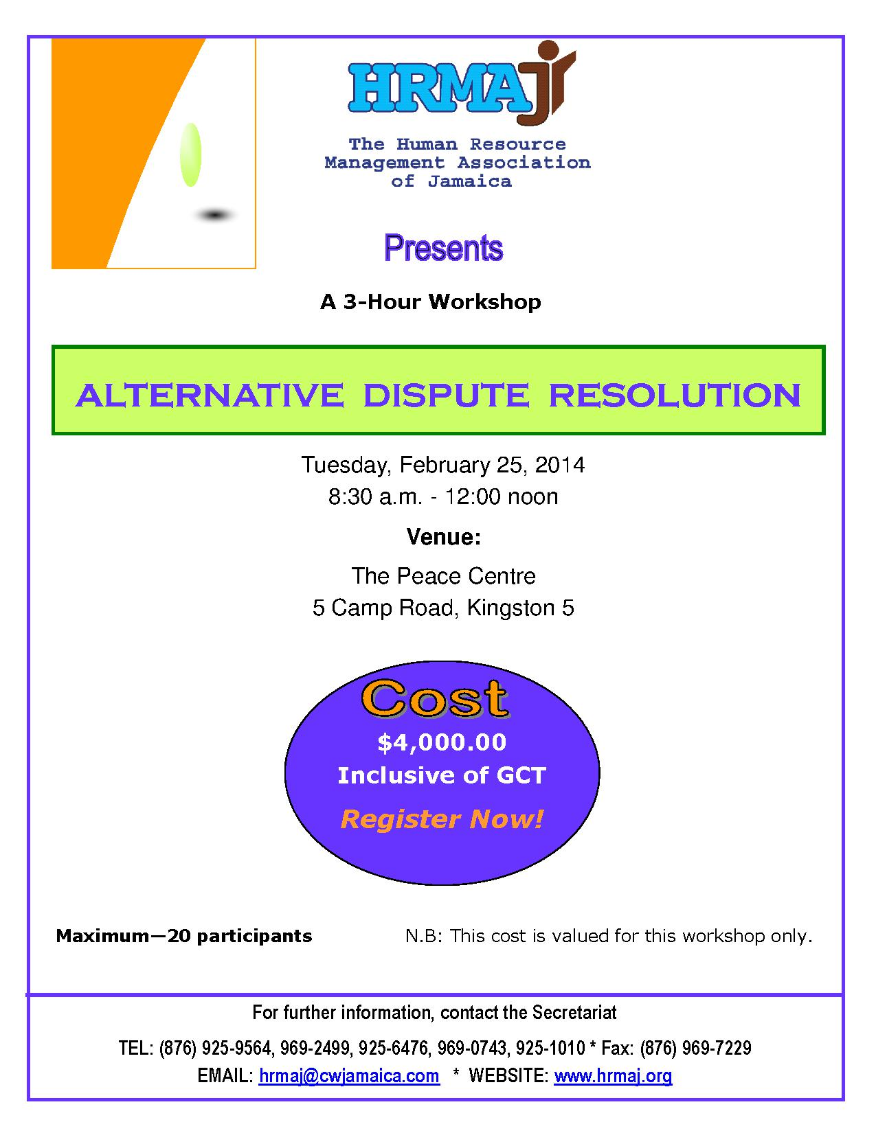 Alternative Dispute Resolution Workshop