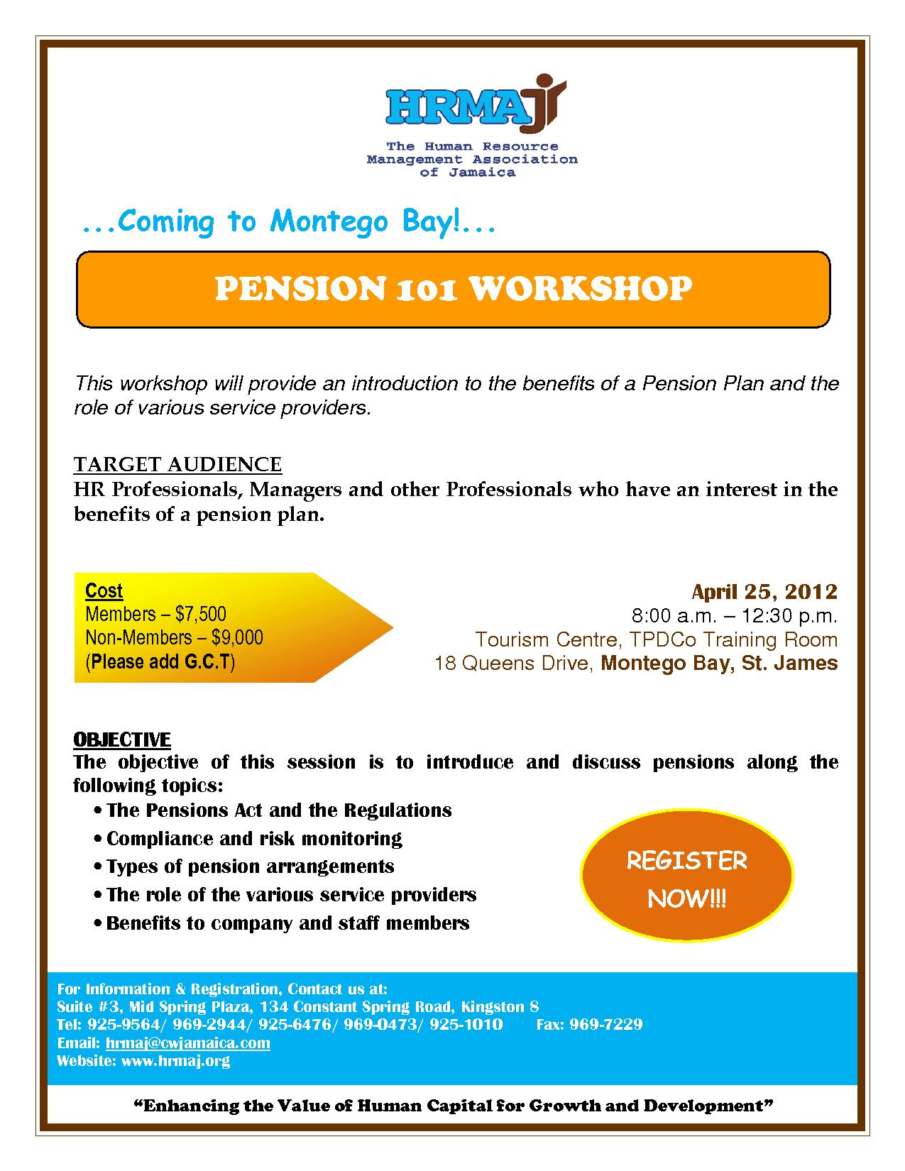 Pension 101 Workshop