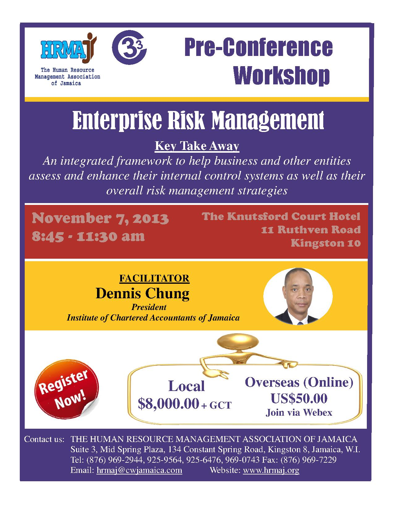 Pre-Conference Workshop - Enterprise Risk Management