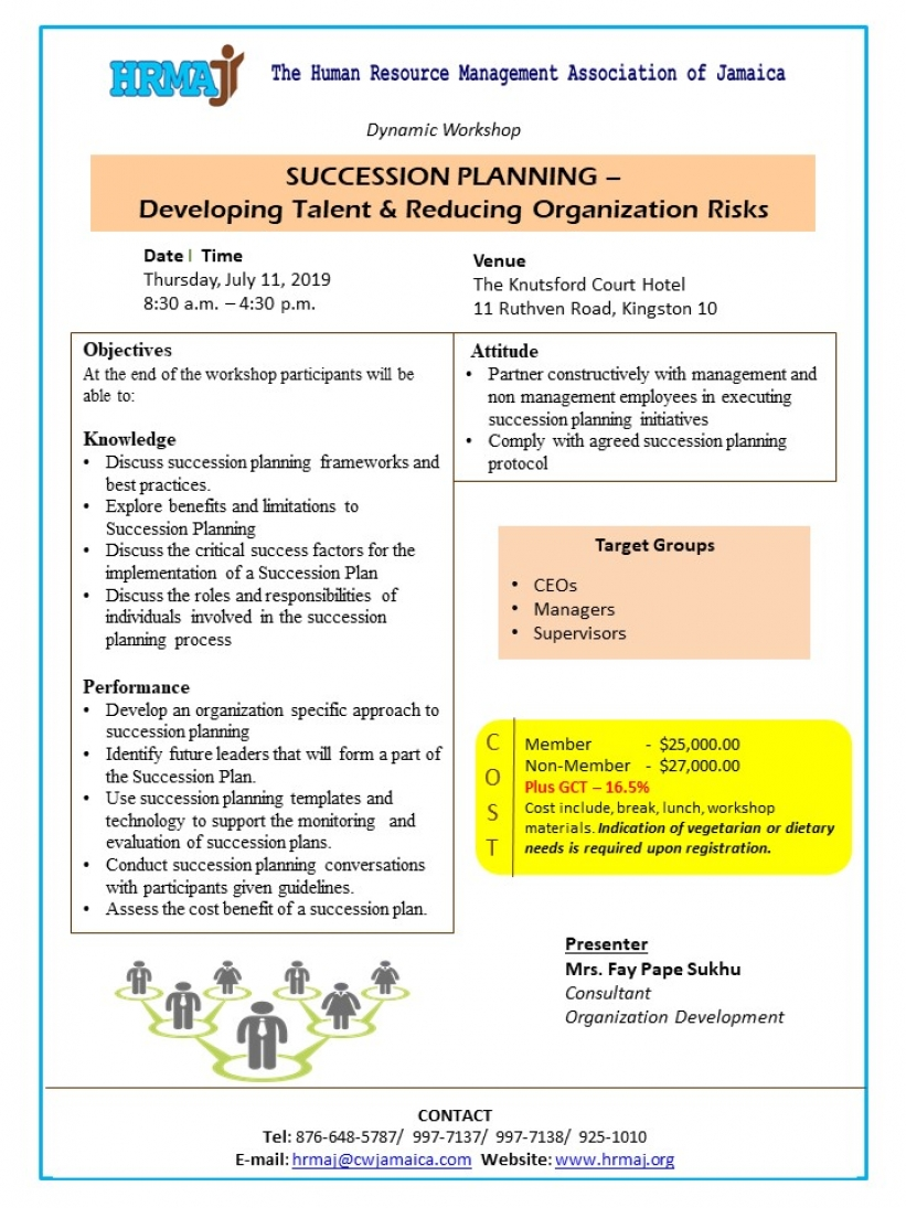 Succession Planning - Developing Talent & Reducing Organization Risks