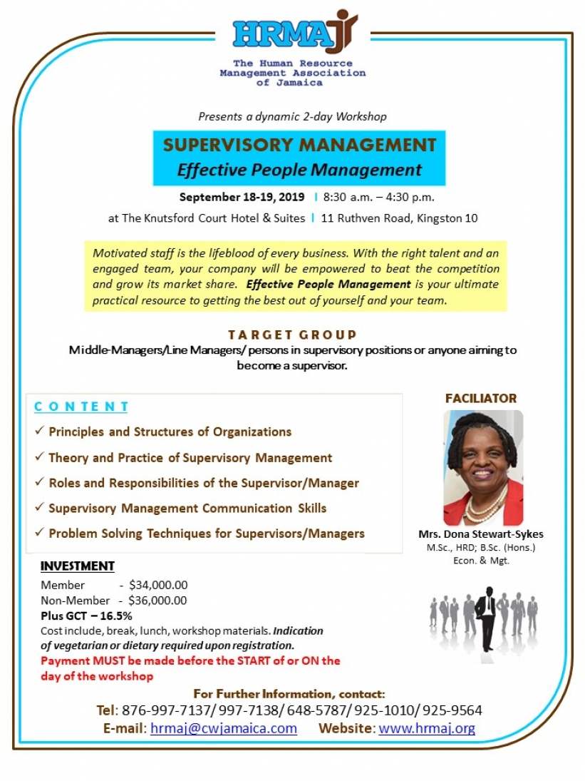 "Supervisory Management - ""Effective People Management"""