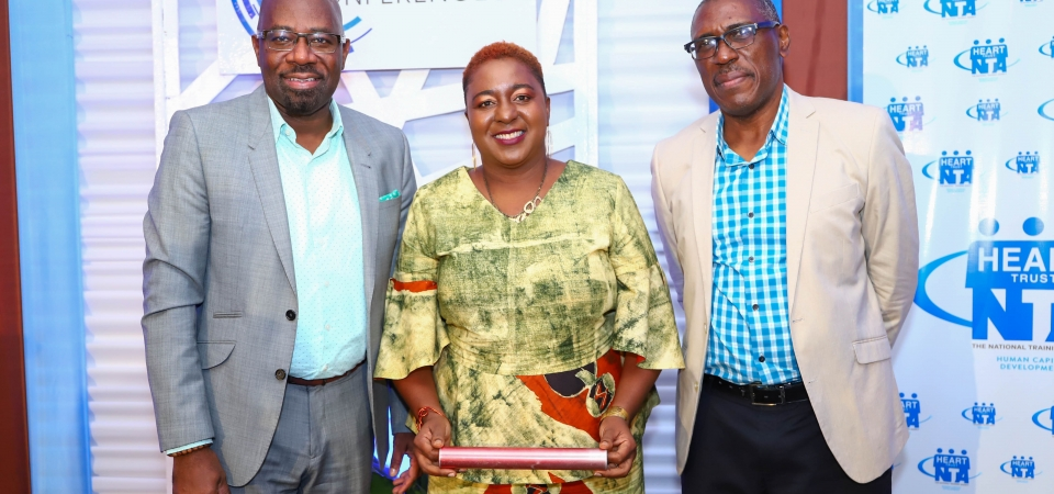 From left: Immediate past president - Mr. Karl Williams, President - Mrs. Lois Walters and past president - Mr. Michael McAnuff-Jones